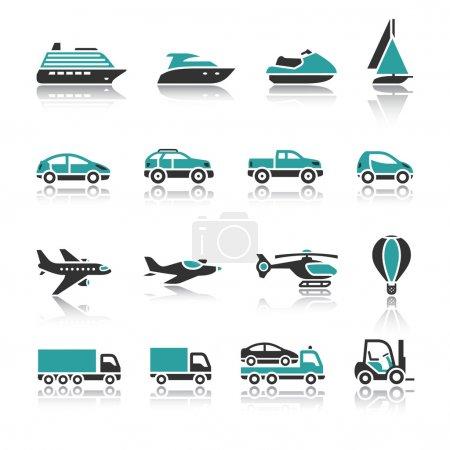 Photo pour Ensemble d'icônes de transport - Un - image libre de droit