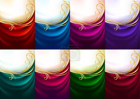 Holiday backdrops - Set colored fabrics