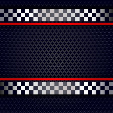 Metallic perforated sheet background for race