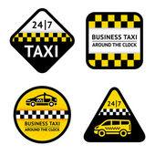 Taxi - nastavit štítky