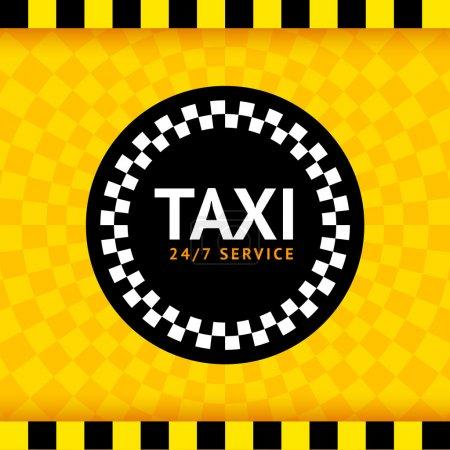Illustration pour Taxi symbole rond, illustration vectorielle 10eps - image libre de droit