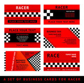 Business card driver race - third set