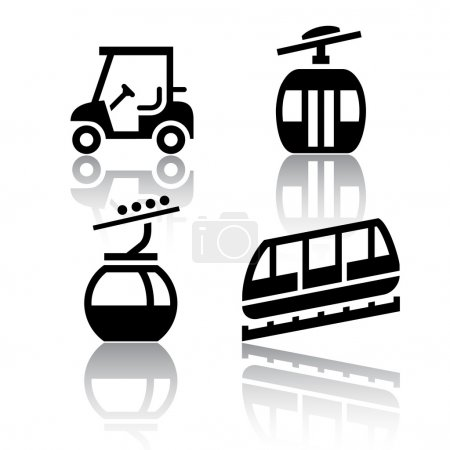 Set of transport icons - Recreation