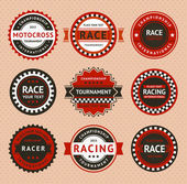 Racing insignia - vintage style vector illustration