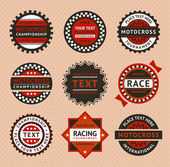 Racing labels - vintage style vector illustration