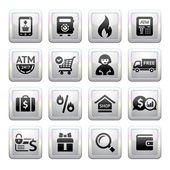 Shopping Icons square gray Web 20 icons