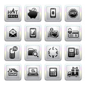 Shopping Icons Gray Web 20 icons