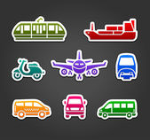Set of stickers transport color signs