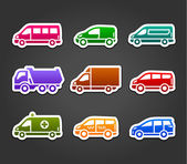Set of sticky stickers transport color signs