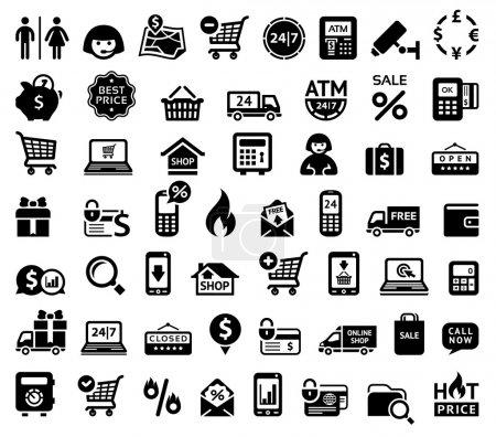 Illustration for Shopping icons - Royalty Free Image