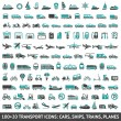 120 Transport icons,...