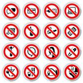 Set Prohibited symbols