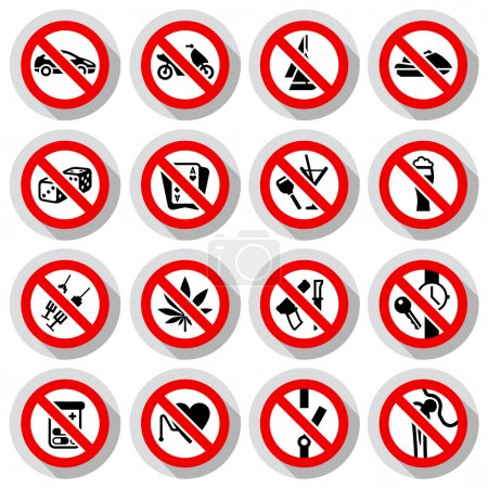Set Prohibited symbols on paper stickers