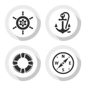 Set of travel flat icons vector illustrations