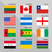 Flags of world flat Set number 01