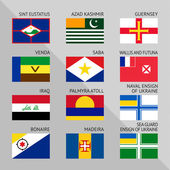 Flags of world flat Set number 17
