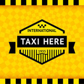 Taxi symbol with checkered background - 05 vector illustration 10eps