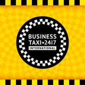Taxi symbol with checkered background - 19 vector illustration 10eps