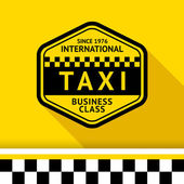 Taxi badge with shadow - 12 vector illustration 10eps