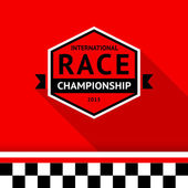 Racing badge 03 vector illustration
