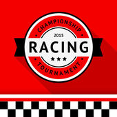 Racing badge 04 vector illustration