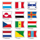 Flags of world flat vector illustration Set number 04