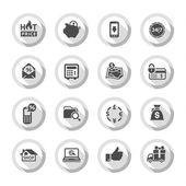 Shopping flat icons set 02