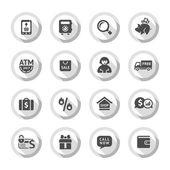 Shopping flat icons set 04