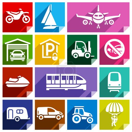Transport flat icon, bright color-08