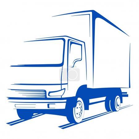 Illustration pour Camion vectoriel - image libre de droit