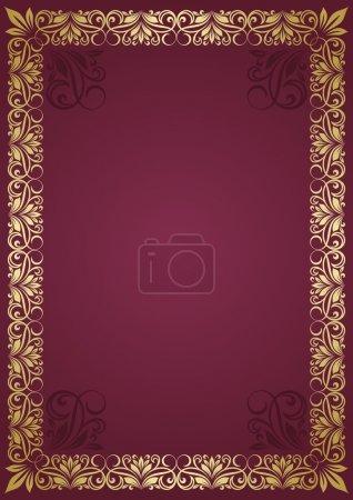 Floral frame.