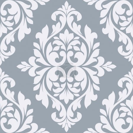Illustration for Damask seamless pattern for design. This is file of EPS10 format. - Royalty Free Image