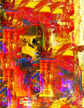 Photo for Very nice original abstract oil Painting On Canvas - Royalty Free Image