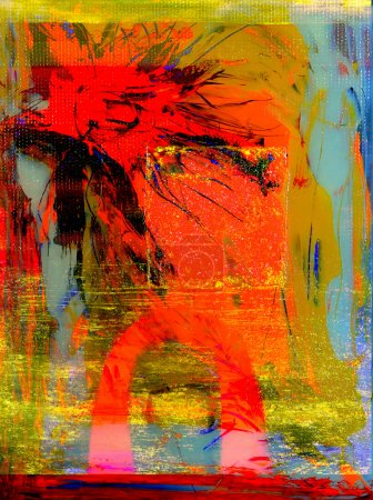 Photo for This Is an Original Painting,Acrylic On Glass in Verso - Royalty Free Image