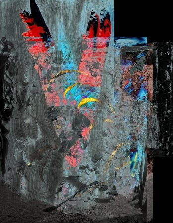 Photo for Beautiful Image of a Original Abstract Acrylic On Glass - Royalty Free Image