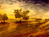 "Постер, картина, фотообои ""Река Оуэнс, Калифорния"""