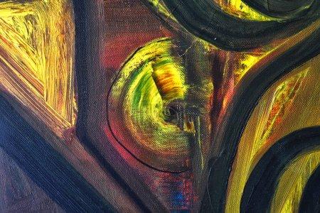 Photo pour Très grande peinture à l'huile originale sur toile - image libre de droit