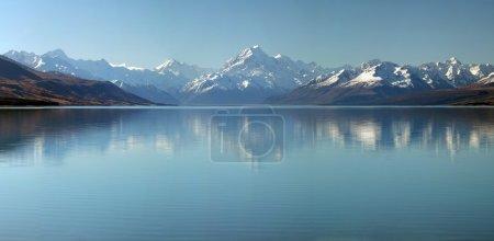 Mount Cook & Lake Pukaki Panorama Background