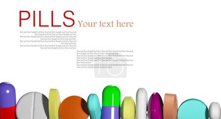 Photo pour Pilules dans une rangée - image libre de droit