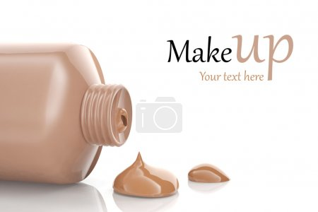 Photo for Makeup foundation cream isolated on white background - Royalty Free Image