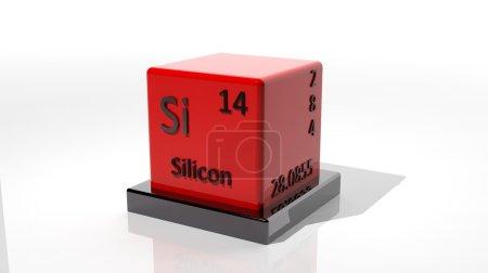 Foto de Silicio, elemento químico 3d de los periódicos - Imagen libre de derechos