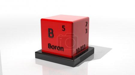 Boron. 3d chemical element of the periodic table