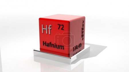 Hafnium, 3d chemical element of the periodic table