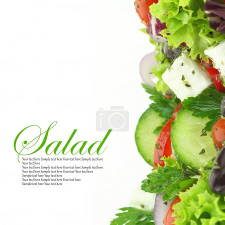 Photo for Close up of fresh mixed vegetables salad - Royalty Free Image