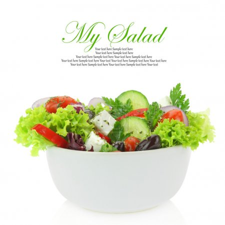 Photo for Fresh mixed vegetables salad in a bowl - Royalty Free Image