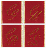 Collection of textile monograms design on a ribbon. CG, CM, CR, CS