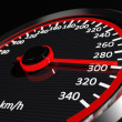 Speedometer with moving arrow...