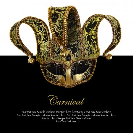 Photo for Vintage venetian carnival mask with copy-space - Royalty Free Image
