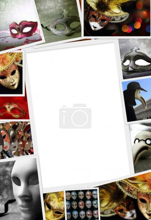Collection of Carnival photos with copy space