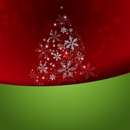 stilisierter Weihnachtsbaum auf dekorativem Hintergrund mit Copyspace